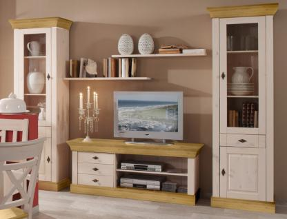 wohnwand wohnzimmerset vitrinen wandboard tv board kiefer. Black Bedroom Furniture Sets. Home Design Ideas