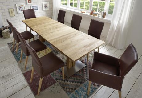 Esstisch Tisch Esszimmertisch ausziehbar Kernbuche massiv geölt Klappeinlagen - Vorschau 5