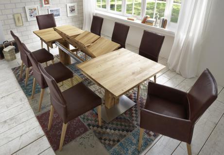 Esstisch Tisch Esszimmertisch ausziehbar Kernbuche massiv geölt Klappeinlagen - Vorschau 4