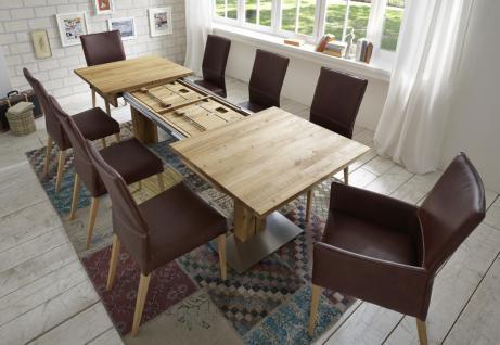 Esstisch Tisch Esszimmertisch ausziehbar Kernbuche massiv geölt Klappeinlagen - Vorschau 3
