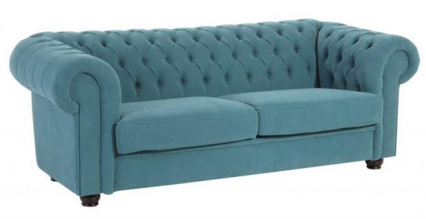 Sofa Couch 2,5-Sitzer Stoff weich Textilsofa Wohnzimmer barock klassisch - Vorschau 4