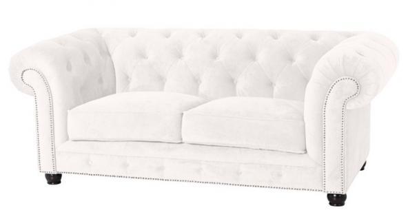 Sofa Couch 2-sitzig Samt Samtvelour Buche grau schwarz burgund creme braun - Vorschau 3