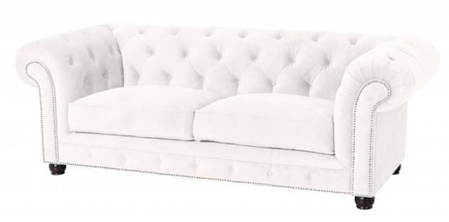 Sofa Couch 3-sitzig Samt Samtvelour Buche grau schwarz burgund creme braun - Vorschau 3