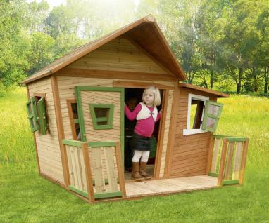 Spielhaus mit Terrasse Zaun Holzspielhütte für Kinder Garten Zeder TÜV geprüft - Vorschau 2