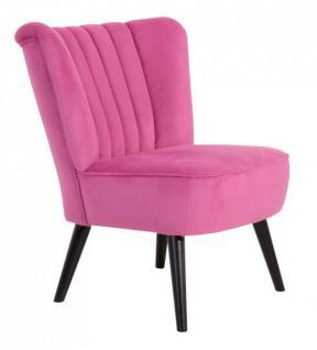 Sessel Sitzmöbel pink Stoff samtig Velours Schlangenhaut-Optik Kedernaht - Vorschau 1