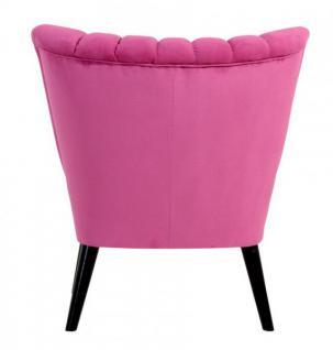Sessel Sitzmöbel pink Stoff samtig Velours Schlangenhaut-Optik Kedernaht - Vorschau 3