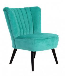 Sessel samtig Velours grün Sitzmöbel knallig farbig Retro Veloursstoff