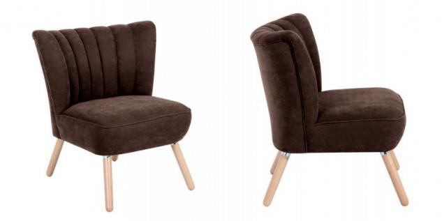 Sessel Sitzmöbel Stuhl Retrosessel Retro Stil bunt weich Flachgewebe Stoffbezug - Vorschau 2