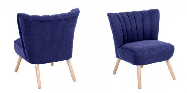 Sessel Sitzmöbel Stuhl Retrosessel Retro Stil bunt weich Flachgewebe Stoffbezug - Vorschau 3