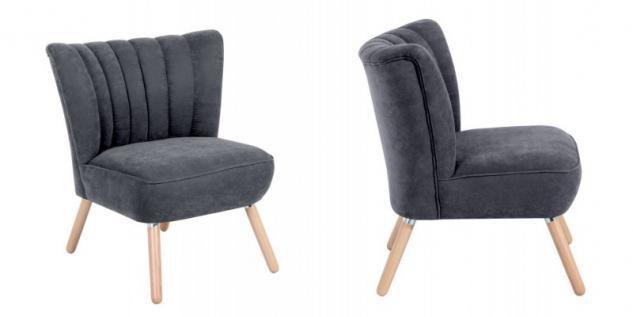 Sessel Sitzmöbel Stuhl Retrosessel Retro Stil bunt weich Flachgewebe Stoffbezug - Vorschau 4
