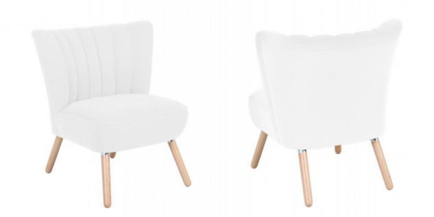 Sessel Sitzmöbel Stuhl Retrosessel Retro Stil bunt weich Flachgewebe Stoffbezug - Vorschau 5