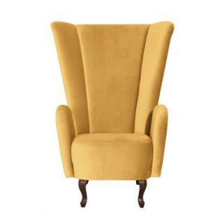 Sessel Ohrensessel hoch samtig Velours modern extravagant - Vorschau 4