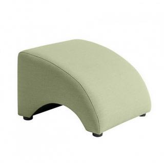 Hocker Fußablage Relax Retro Leinenoptik Polyester sanft gedeckte Farben - Vorschau 1