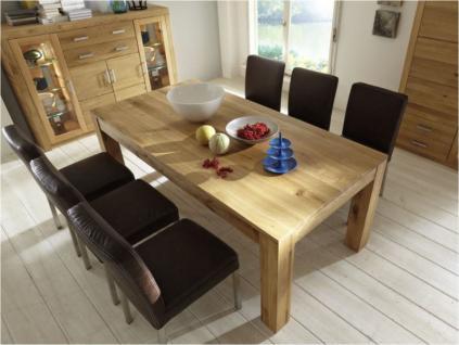 Esstisch Esszimmertisch Tisch versch. Größen Kernbuche oder Wildeiche massiv - Vorschau 2