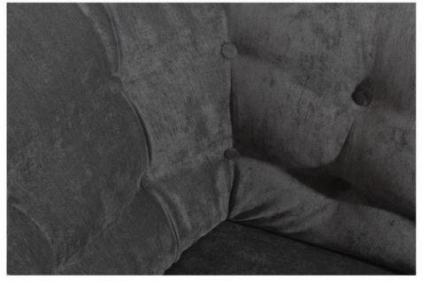 Sessel Clubsessel Polstersessel Textilsessel Samtvelours samtig weich grau - Vorschau 4