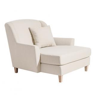 Sessel Longchair Relaxsessel Leinenoptik XXL Love-Seat inkl. Kissen Rücken echt - Vorschau 3