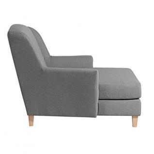 Sessel Longchair Relaxsessel Leinenoptik XXL Love-Seat inkl. Kissen Rücken echt - Vorschau 4