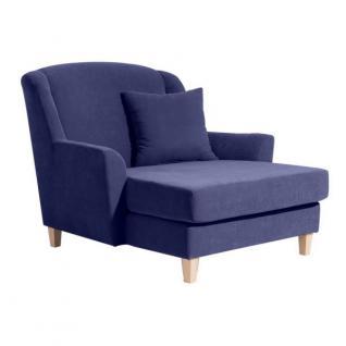 Sessel Longchair Relaxsessel XXL Love-Seat inkl. Kissen weich echter Rücken - Vorschau 3