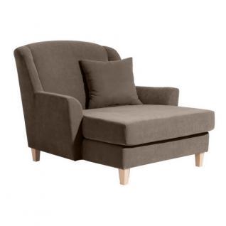 Sessel Longchair Relaxsessel XXL Love-Seat inkl. Kissen weich echter Rücken - Vorschau 1