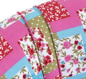 Sessel Retrosessel Retrostil Patchwork Look Blumenprint Patchworkstil - Vorschau 4