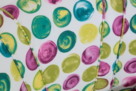 Sessel Retrosessel Retrostil Punkte grün lila blau gepunktet Muster - Vorschau 4