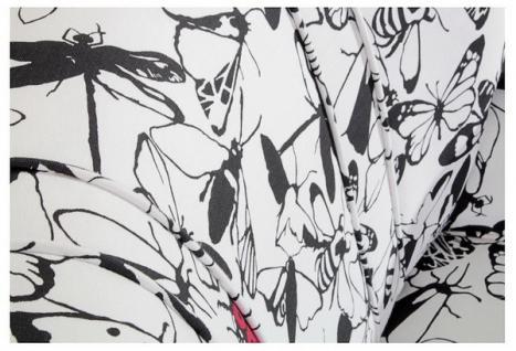 Sessel Retrosessel Retrostil Insekten Muster schwarz weiß kultig - Vorschau 3