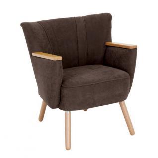 Sessel Retrosessel Retrostil weich Polyester Textilsessel Stuhl Küche Esszimmer - Vorschau 3