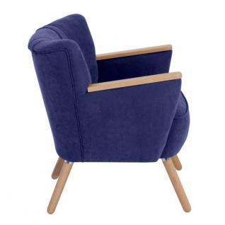 Sessel Retrosessel Retrostil weich Polyester Textilsessel Stuhl Küche Esszimmer - Vorschau 4