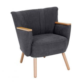 Sessel Retrosessel Retrostil weich Polyester Textilsessel Stuhl Küche Esszimmer - Vorschau 5