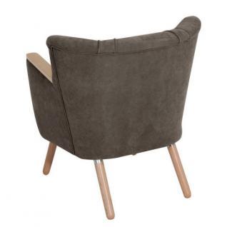 Sessel Retrosessel Retrostil weich Polyester Textilsessel Stuhl Küche Esszimmer - Vorschau 1