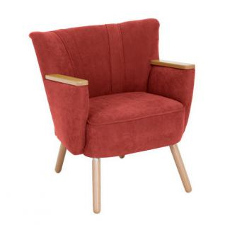 Sessel Retrosessel Retrostil weich Polyester Textilsessel Stuhl Küche Esszimmer - Vorschau 2