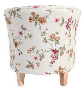 Sessel Cocktailsessel Einzelsessel Blumenprint weiß Blumen florale Muster - Vorschau 5