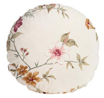 Ohrensessel Ohrenbackensessel Sessel + Hocker + Kissen floral Blumen Landhaus - Vorschau 2