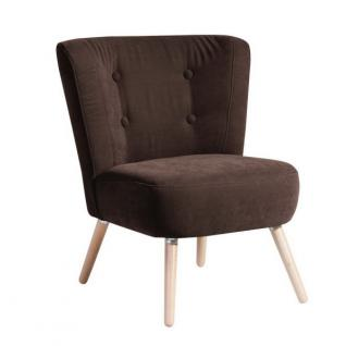 Stuhlsessel Sessel Stuhl Retro Retrostil Polyester weich bequem Flachgewebe - Vorschau 2