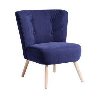 Stuhlsessel Sessel Stuhl Retro Retrostil Polyester weich bequem Flachgewebe - Vorschau 3