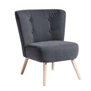 Stuhlsessel Sessel Stuhl Retro Retrostil Polyester weich bequem Flachgewebe - Vorschau 4
