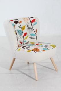 Stuhlsessel Sessel Stuhl Retro weiß Blätter Muster herbst