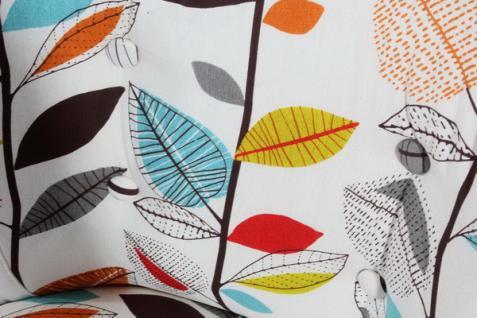 Stuhlsessel Sessel Stuhl Retro weiß Blätter Muster herbst - Vorschau 2
