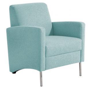Sessel Einzelsessel Stuhlsessel geradlinig Trendfarben schlicht schick - Vorschau 1