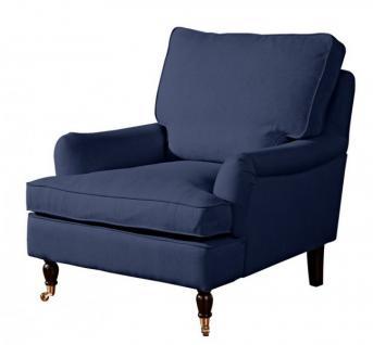 Sessel Lounge Chair Longchair Klavierfüße weich bequem Textilsessel modern - Vorschau 2