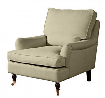 Sessel Lounge Chair Longchair Klavierfüße weich bequem Textilsessel modern - Vorschau 3