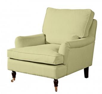 Sessel Lounge Chair Longchair Klavierfüße weich bequem Textilsessel modern - Vorschau 5