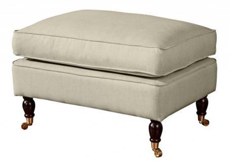 Hocker Fußablage Klavierfüße Polyester extravagant weich bequem modern - Vorschau 2