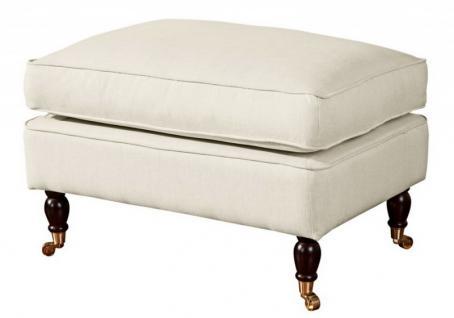 Hocker Fußablage Klavierfüße Polyester extravagant weich bequem modern - Vorschau 4