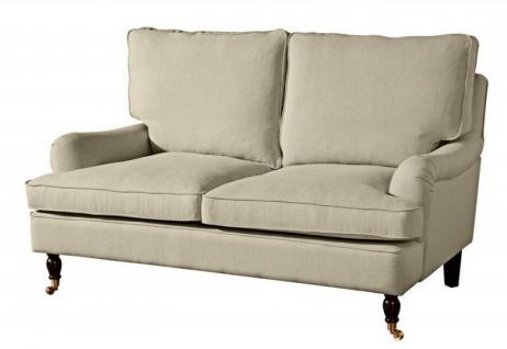 Couch Sofa Textilsofa Polstersofa 2-Sitzer Klavierfüße weich bequem Zweisitzer - Vorschau 5