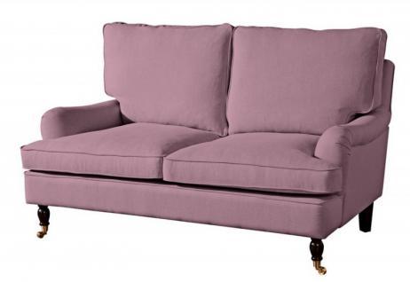 Couch Sofa Textilsofa Polstersofa 2-Sitzer Klavierfüße weich bequem Zweisitzer - Vorschau 2