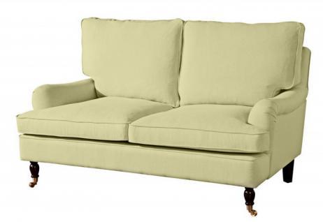 Couch Sofa Textilsofa Polstersofa 2-Sitzer Klavierfüße weich bequem Zweisitzer - Vorschau 3