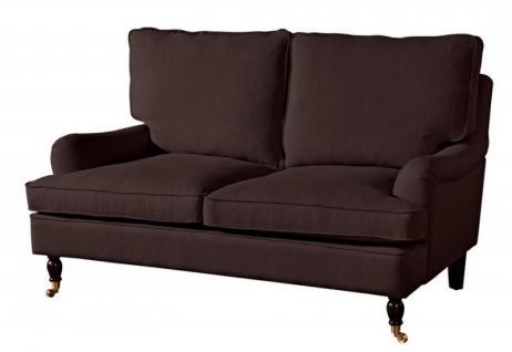 Couch Sofa Textilsofa Polstersofa 2-Sitzer Klavierfüße weich bequem Zweisitzer - Vorschau 4