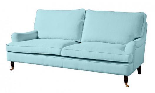 Couch Sofa Textilsofa Polstersofa 3 sitzig Klavierfüße weich bequem Textilsessel - Vorschau 3