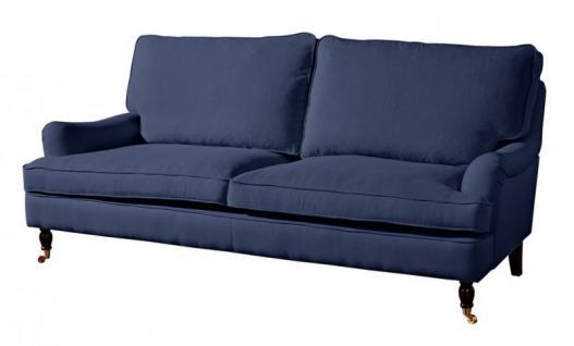 Couch Sofa Textilsofa Polstersofa 3 sitzig Klavierfüße weich bequem Textilsessel - Vorschau 4